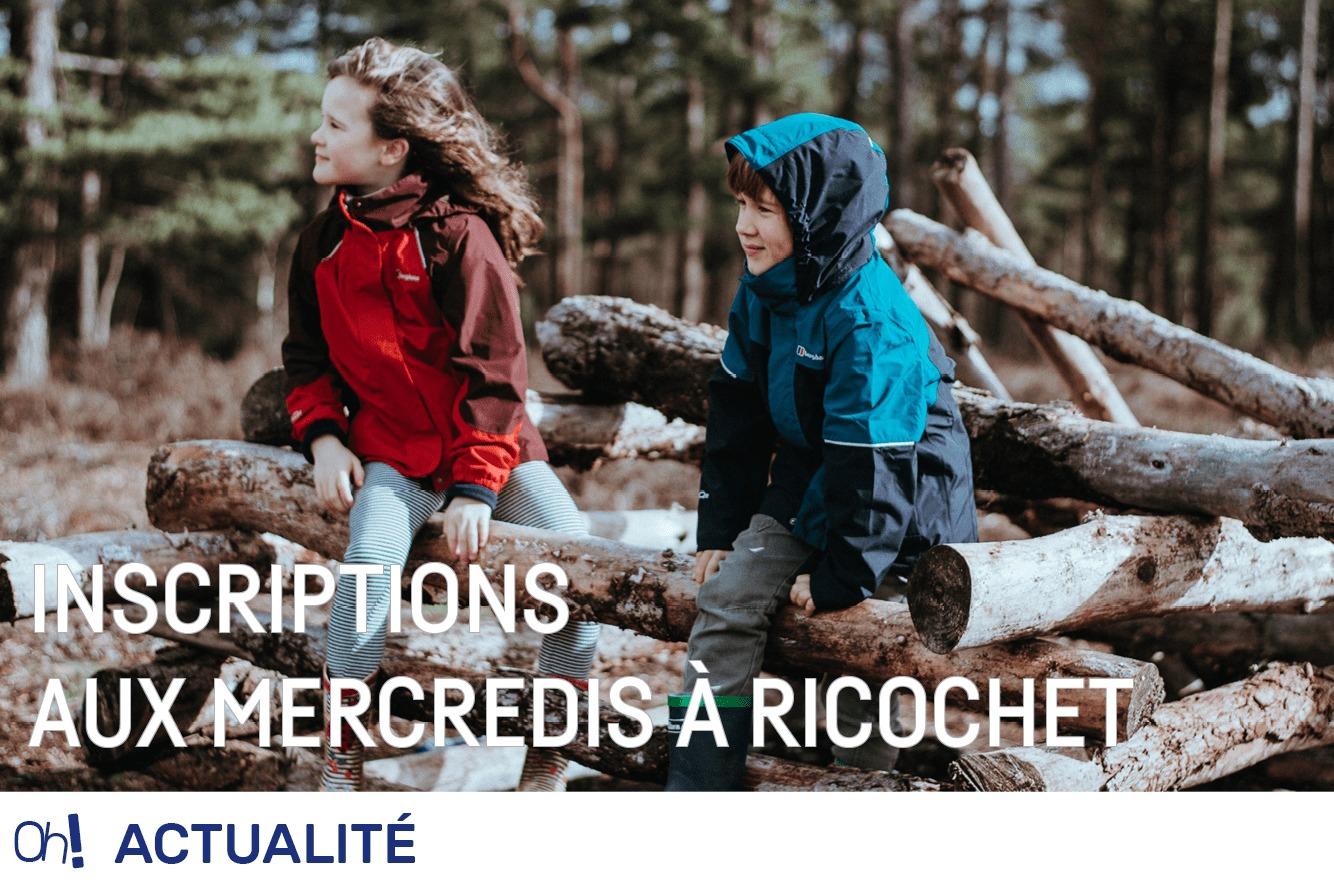 Inscription aux Mercredis à Ricochet